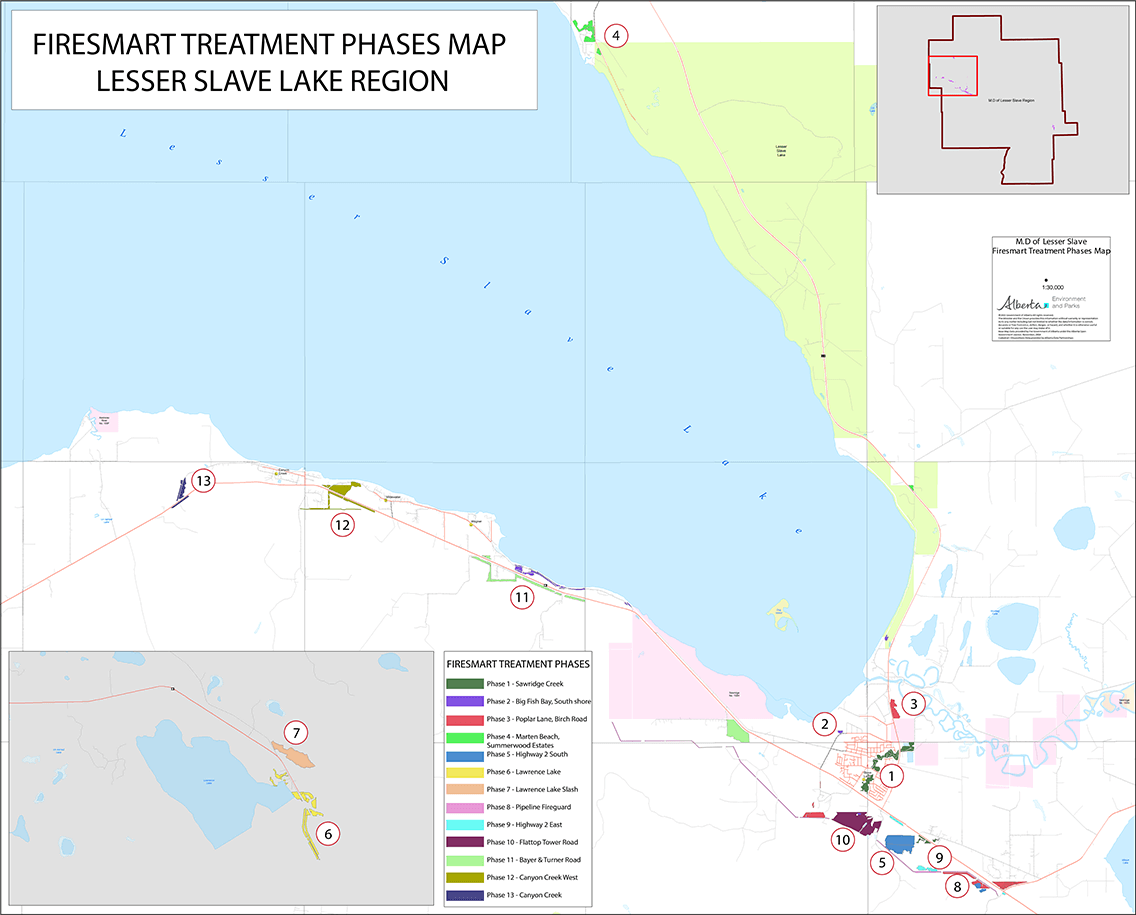 FireSmart Phase Treatment Map
